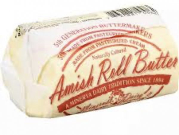 2lb roll of minerva dairy amish butter